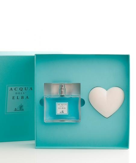 Confezione Regalo Eau de Parfum + Cuore Profumato • Classica Uomo • 100 ml
