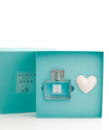 Gift Box Eau de Parfum + Perfumed Heart • Classica Fragrance for Men • 50 ml