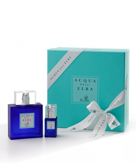 Gift Box Eau de Parfum 100 ml + Eau de Parfum 15 ml • Blu Fragrance Men