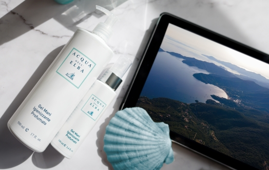 ACQUA DELL'ELBA SANITISING GEL: THE FRAGRANCE OF AN IMPORTANT GESTURE.