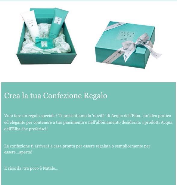 Acqua dell 39 elba personalizza la tua scatola da regalare for Personalizza la tua casa