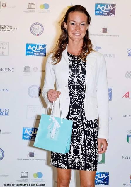 La campionessa di apnea Alessia Zecchini
