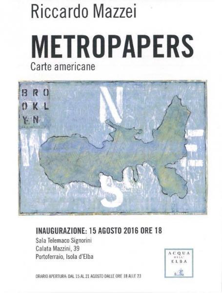 INAUGURAZIONE DELLA MOSTRA 'METROPAPERS'