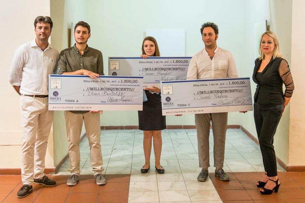 I tre vincitori con Acqua dell'Elba