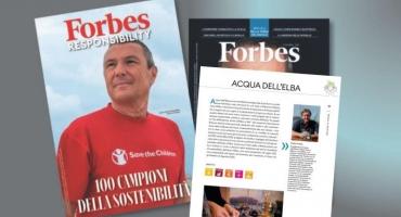 FORBES ITALIA:  ACQUA DELL'ELBA TRA LE 100 AZIENDE  ITALIANE CHE NEL 2020 SI SONO DISTINTE NELLA RESPONSABILITA' D'IMPRESA